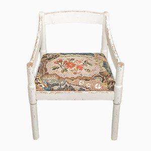 Sedia bianca con tessuto a mosaico di Yukiko Nagai, 2013