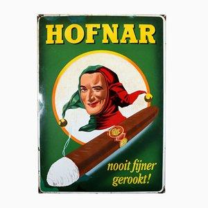 Cartel Hofnar Cigars esmaltado de Langat Bussum, 1956