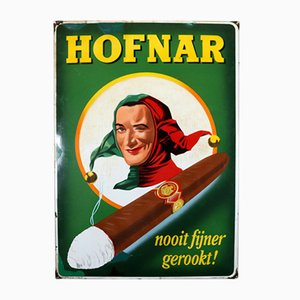 Insegna smaltata dei sigari Hofnar di Langat Bussum, 1956