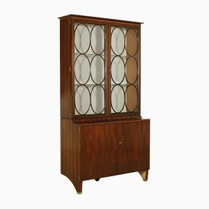 Vintage Cuban Mahogany Showcase by Paolo Buffa for Fratelli Lietti