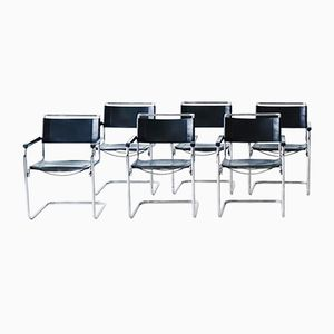 S 34 Cantilevered Armchairs by Mart Stam for Thonet, Set of 6