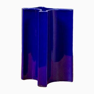 Vaso blu di Angelo Mangiarotti per Brambilla, anni '60