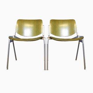 Vintage DSC Axis 106 Holzstühle von Giancarlo Piretti für Castelli, 2er Set