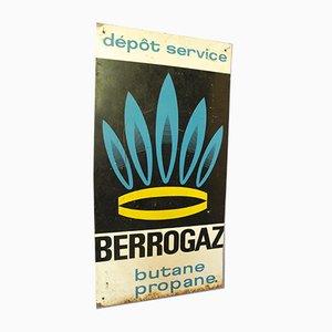 Cartel publicitario francés industrial de Berrogaz Gas