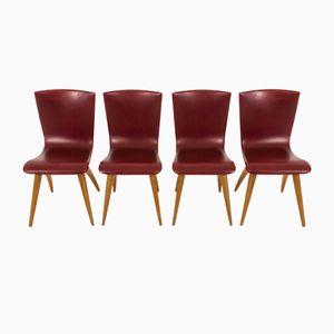 Chaises Swing par G.J. van Os Culemborg, 1950s, Set de 4