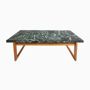 Table Basse en Marbre Verte, 1960s