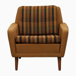 Lounge Chair in Brown Wool Fabric from Dux, 1960s