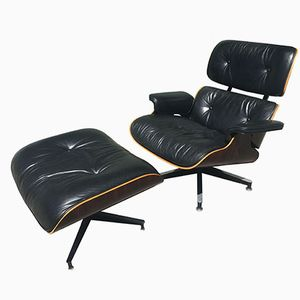 670 & 671 Lounge Chair & Ottoman by Charles and Ray Eames for Herman Miller, 1980s