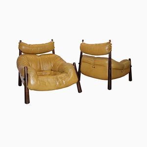 Vintage Lounge Chairs by Percival Lafer, Set of 2