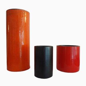 Zylinderförmige Vasen von Georges Jouve, 1950er, 2er Set