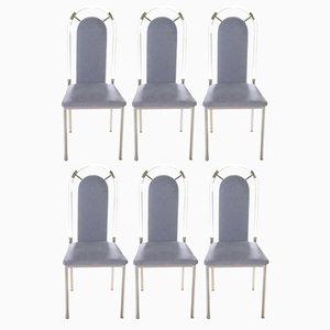 Plexiglas Esszimmerstühle von Maison Jansen, 1970er, 8er Set