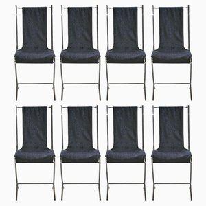 Esszimmerstühle von Pierre Cardin für Maison Jansen, 1970er, 8er Set