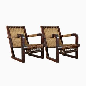 Art Deco Lounge Chairs by Francis Jourdain, Set of 2