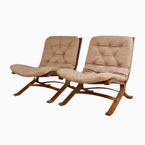 Siesta Lounge Chairs by Ingmar Relling for Westnofa, 1960s, Set of 2