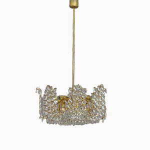 Austrian Crystal Glass Chandelier from Bakalowits & Söhne, 1950