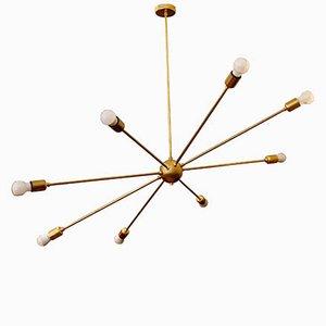 Mid-Century Orbital Lamp with 8 Brass Arms by Juanma Lizana