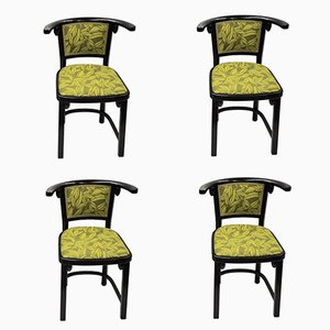 Bentwood Fledermaus Armchairs by Josef Hoffmann for Thonet, 1980s, Set of 4