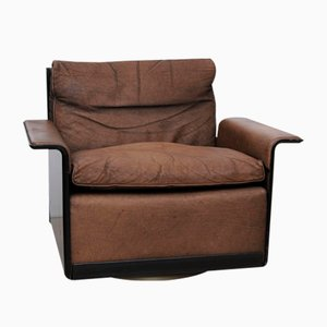 Model 620 Brown Leather Easy Chair by Dieter Rams for Vitsoe