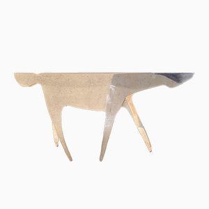 Silver Plated Cavallo Horse Table by Gio Ponti for Lino Sabattini, 1978