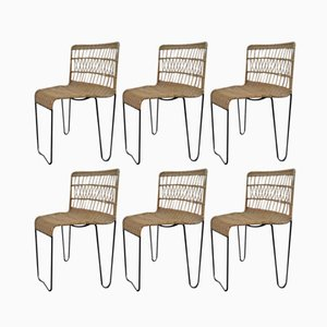 Oro Chairs by Raoul Guys for Airborne, 1950s, Set of 6
