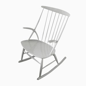 Danish Rocking Chair by Illum Wikkelso for N Eilersen, 1950s