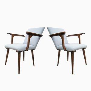 Mid-Century Modernist Gray Armchairs, 1970s, Set of 2
