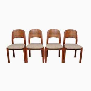 Danish Teak Dining Chairs from Dyrlund, 1960s, Set of 4