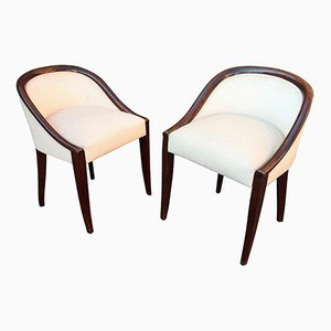 French Art Deco Lounge Chairs, 1926, Set of 2