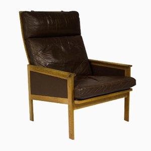 Vintage Danish Capella High Back Lounge Chair by Illum Wikkelsø for Eilersen