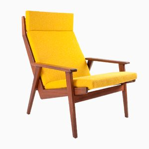 Mid-Century Dutch Lotus Teak Lounge Chair by Rob Parry for Gelderland, 1960s