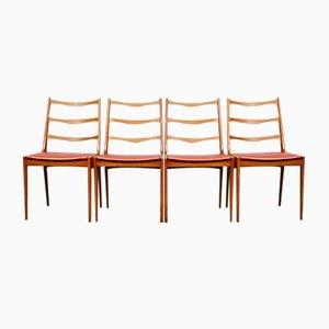 Mid-Century Teak Danish Dining Chairs by Kai Kristiansen for Korup, Set of 4