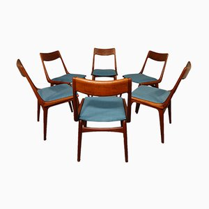 Vintage Boomerang Dining Chairs by Alfred Christensen for Slagelse Møbelværk, Set of 6