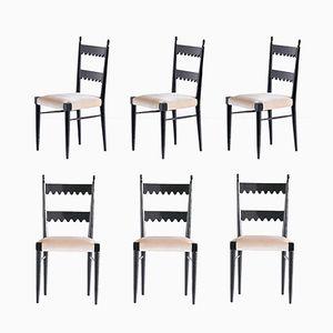 Esszimmerstühle von Pier Luigi Colli für Colli Torino, 1940er, 6er Set