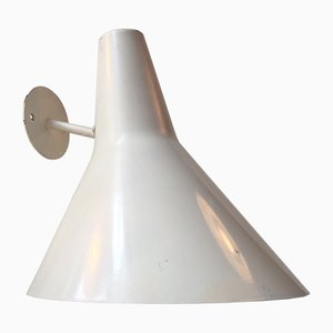 Moderne Weiße Dänische Außen Wandlampe von Fog & Mørup, 1970er