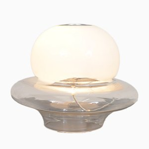 Mid-Century Glass Table Lamp