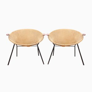 Scandinavian Balloon Chairs by Hans Olsen, 1950s, Set of 2