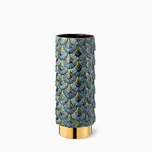 Bunte Hand-Dekorierte Plumage Vase von Cristina Celestino für BottegaNove