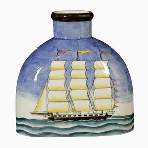 Bottle-Shaped Ceramic Vase by Gio Ponti for Richard Ginori, 1930s