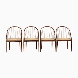 Curva Chairs from Joaquim Tenreiro, 1960s, Set of 4
