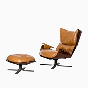 Paulistana Lounge Chair and Ottoman by Jorge Zalszupin for L'atelier, 1960s