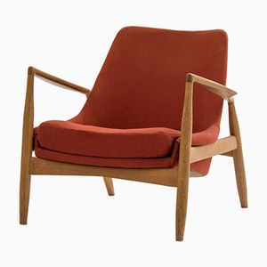 Swedish Seal Lounge Chair by Ib Kofod Larsen for OPE, 1956