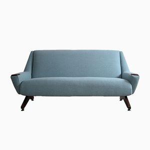 Dänisches Sofa mit Beinen aus Eiche, 1950er