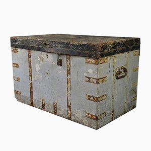 Large Antique Naval Travelling Trunk