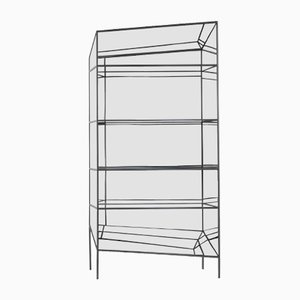 Small Black Metal Perflect Display Cabinet by Sam Baron for JCP, 2017