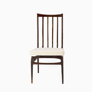 Stuhl aus Jacaranda & Stoff von Giuseppe Scapinelli für Fabrica de Moveis Giesse, 1956