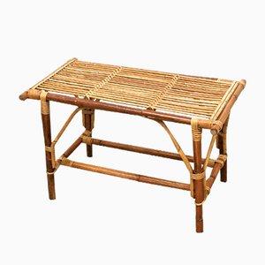 Low Mid-Century Wicker Garden Table