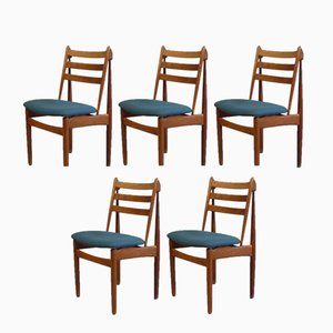 J60 Oak Dining Chairs by Poul Volther for FDB Møbler, 1950s, Set of 5