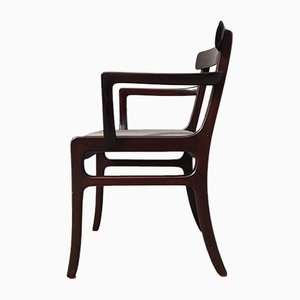 Danish Rungstedlund Mahogany Armchair by Ole Wanscher for P. Jeppesen, 1960s