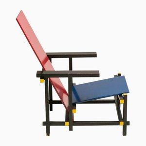 Rot & Blauer Sessel von Gerrit Thomas Rietveld für Cassina, 1978