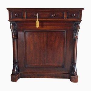 Antique Victorian Mahogany Davenport Desk, 1850s